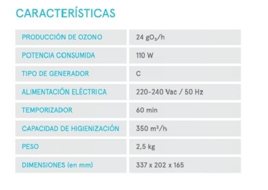 Si vols saber les característiques del nostre generador d'ozó portàtil, aquí veuràs que la seva eficiència és única.