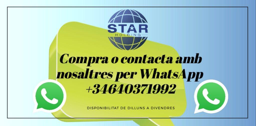 Contacte amb nosaltres per whatsapp