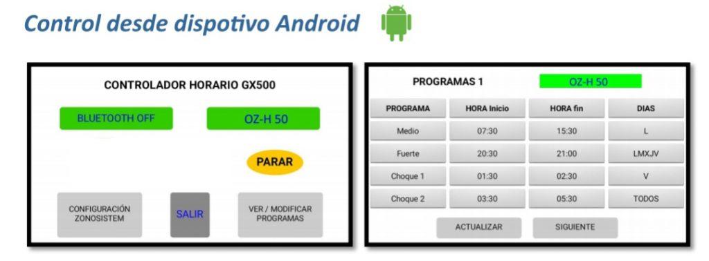 Star Oz, el teu nou generador d'ozó, ho pots controlar desde el teu dispositiu android.