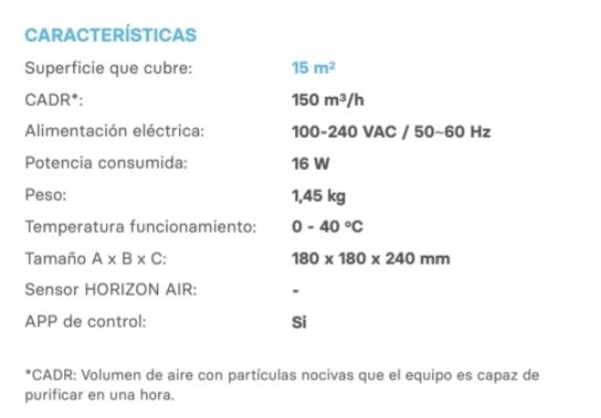 Característiques de Star Horizon, el nou purificador d'aire de Star Holding