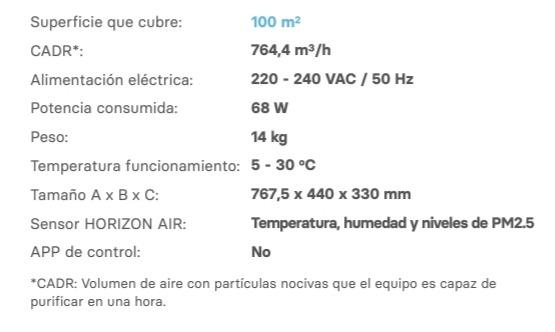 Característiques tècniques de Star 700, l'eina perfecta per obtenir un millor aire que respirar al teu voltant.
