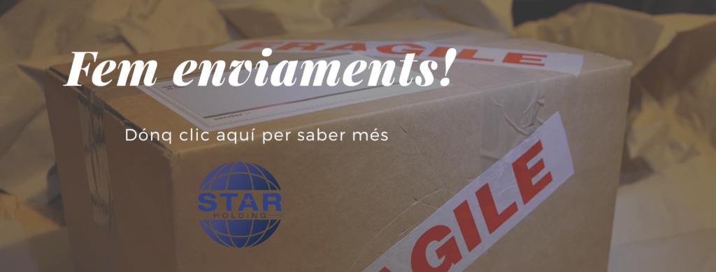 A Star Holding fem enviaments del teu equip d'aigua!