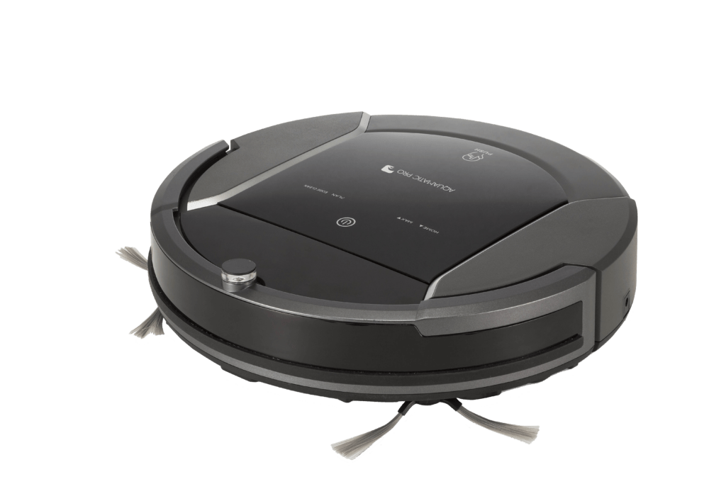 Aquamatic pro és un robot aspirador que neteja el terra dins de la teva llar, està dins de l'pack star clean